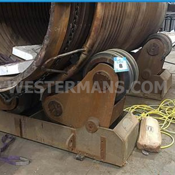 Bode SAR 600 30 ton Welding idlers x 2