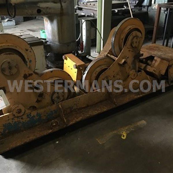 Bode SAR 300 Ton welding rotator, self aligning with slim steel wheels