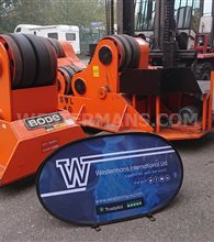 Bode SAR 1600 80 ton Welding Rotators, 1 powered drive unit and 1 idler self aligning ex-Rolls-Royce