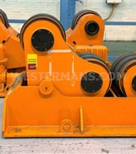 Bode SAR 1600 80 ton Welding Rotators, 1 powered drive unit and 1 idler roll self aligning