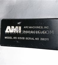 AMI Model 85-650B Return Bend Fusion Weld Head
