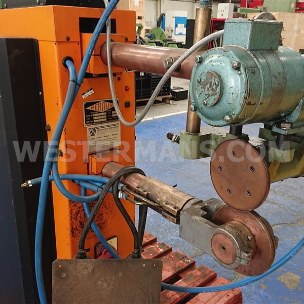 Meritus Resistance Seam Welder. Last Used in the Welding Production of Flue Vents and Ducting