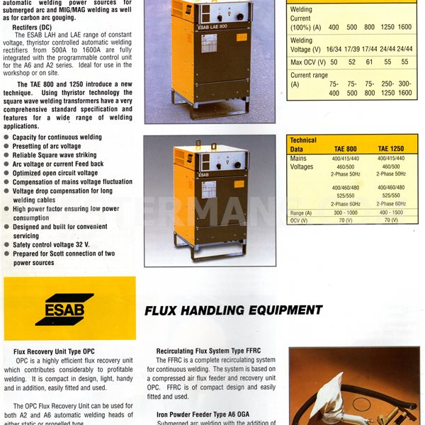 ESAB LAE 1000 Welding Power Source