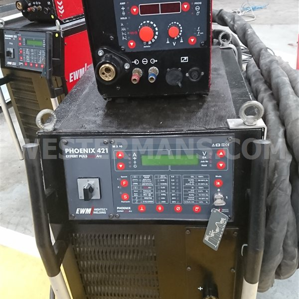 EWM Phoenix expert puls 521 and 421 water cooled Multi-process mig