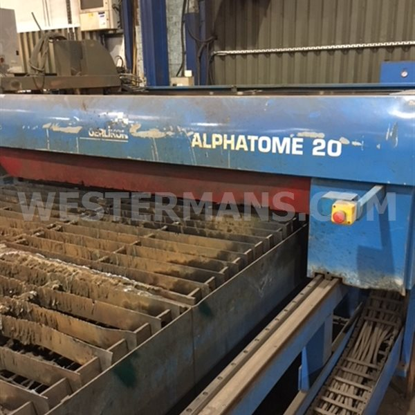 SAF Alphatome 20 HP 125 High Precision cnc controlled plasma profile