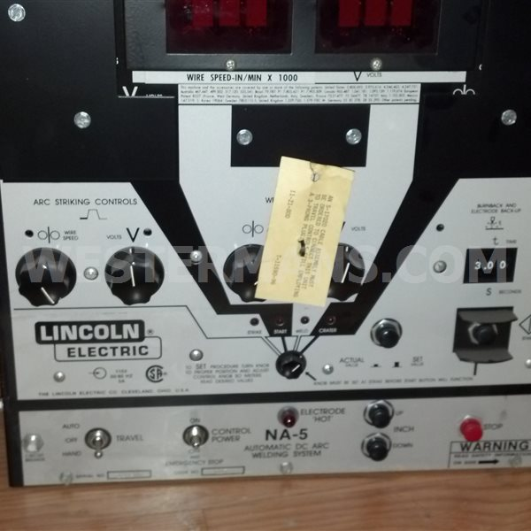 Lincoln NA5 Sub Arc Welding controls