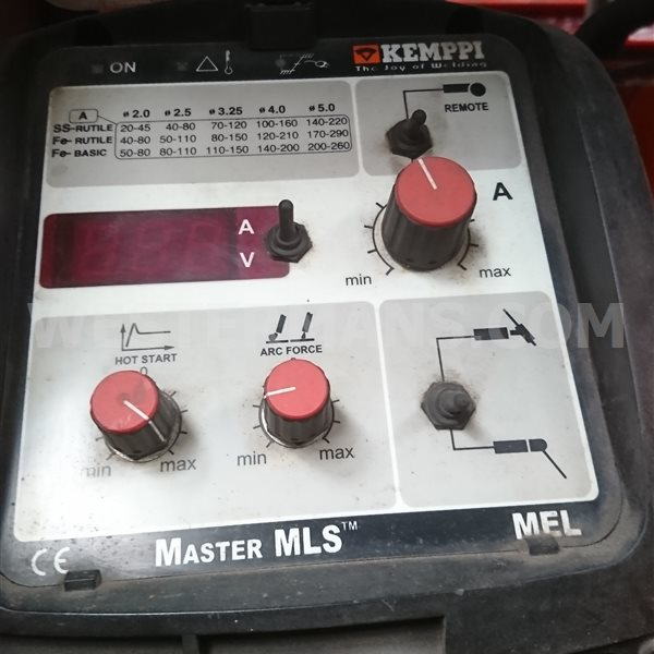 Kemppi MLS 3500 MEL Suitable for mains or power generator use