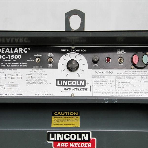 Lincoln DC 1500 amp Welding Power Source Supply unused