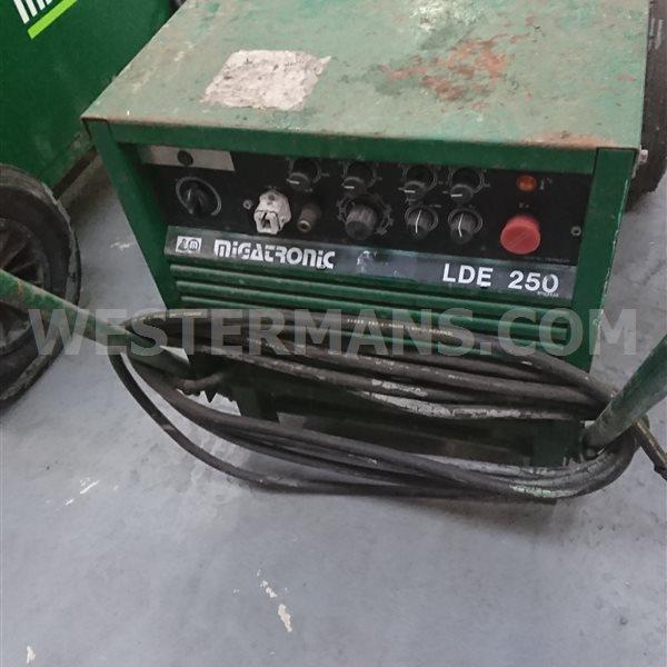Migatronic LDE 250 amp DC tig and mma stick plant