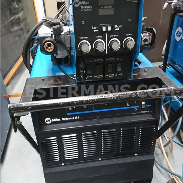Miller DeltaWeld 852 DC Power Source with Miller S74D  Dual Wire Feed Unit