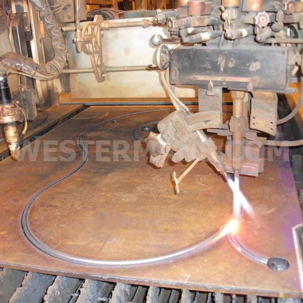 Messer OmniMat P6000 CNC Plasma & Oxy Fuel Profile and plasma with Cutter  DKS oxy-fuel triple